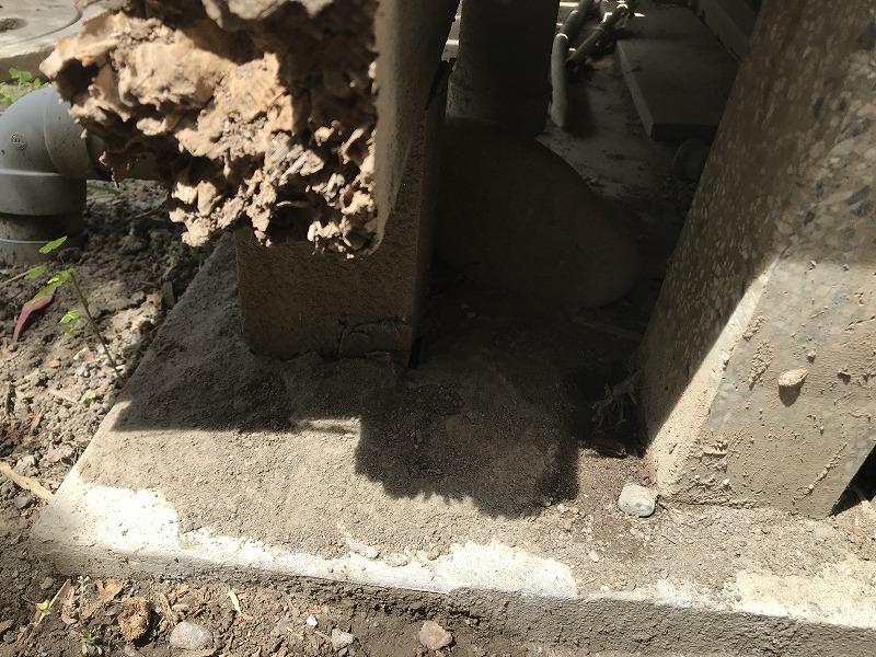 縁側の柱の腐食