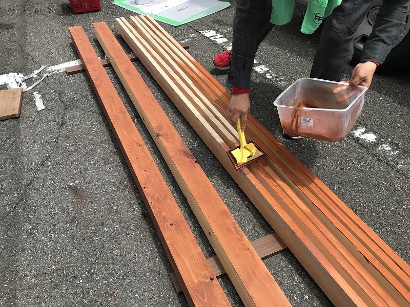 木材保護塗料塗り