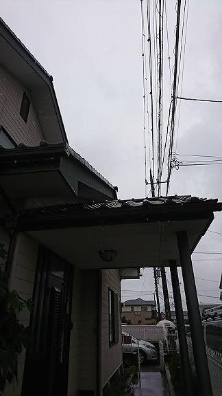 玄関上の鬼瓦
