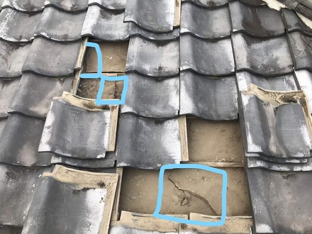 屋根の防水シートの切れ目