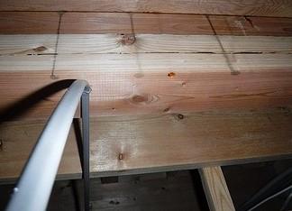 一階天井裏の雨漏り