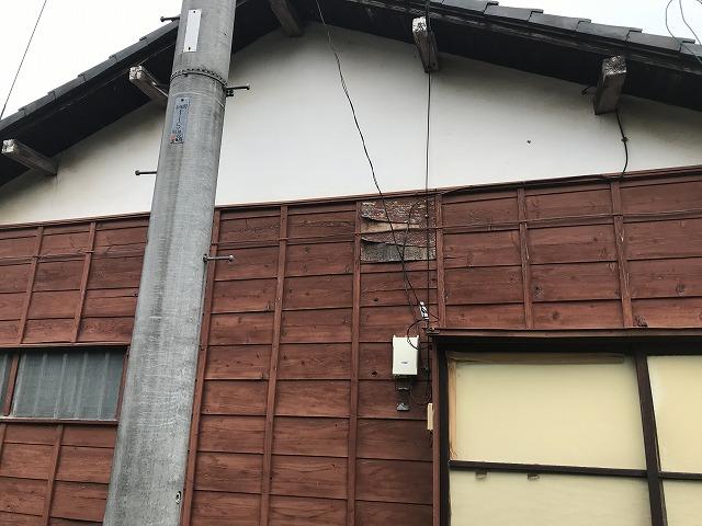 木部の外壁の傷み