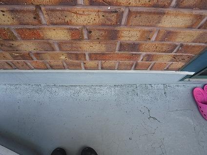 バルコニーの床の防水塗装のぶつぶつ
