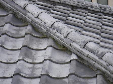 隅棟の塗り土の流出