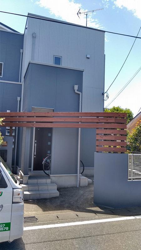 玄関と門の塗装完成