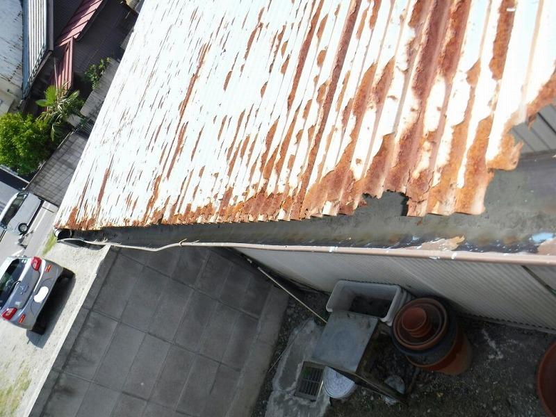 小屋の集水器上から見て