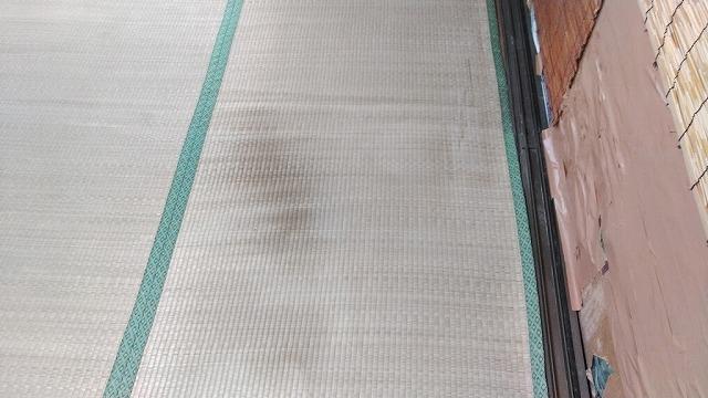 畳の雨漏りのシミ
