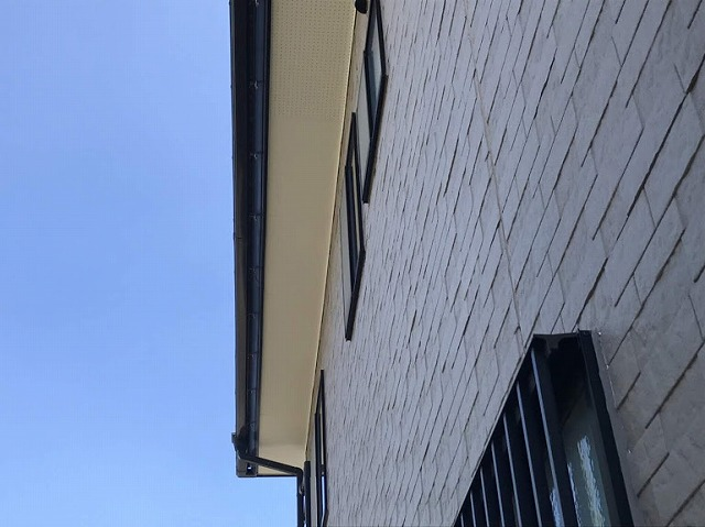 足場の取れた北側軒天井完成