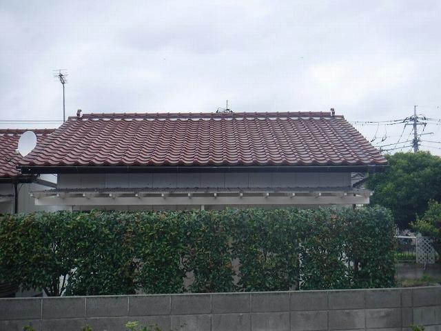 家の南側正面全景
