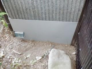 トタン波板の上にガルバリウム鋼板