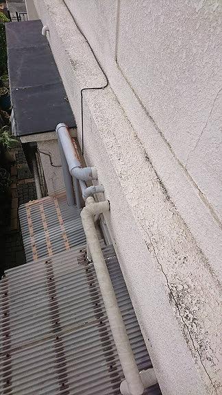 外壁の配管入り口