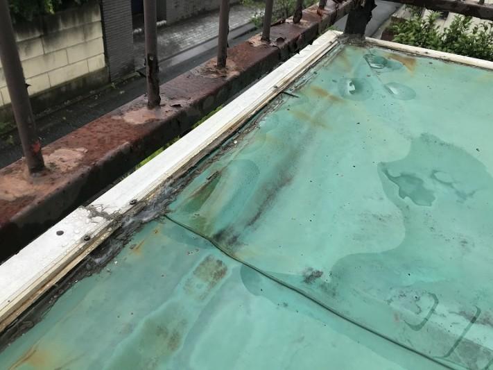 シート防水金具周りのコーキング劣化