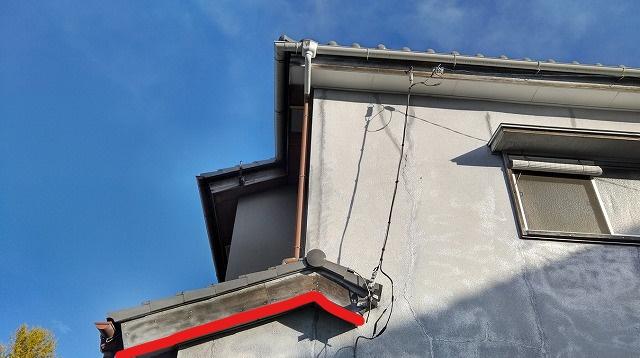 破風板の塗膜の傷み