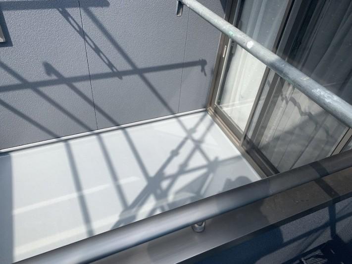 FRP防水塗装後の床