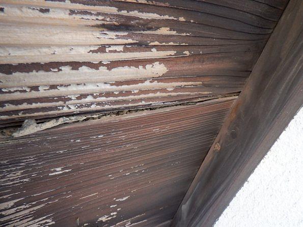 日本瓦の裏の土