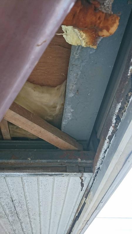 板金軒天井剥がしたところ最近景