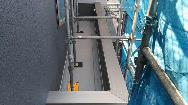 2階バルコニー防水シート工事後