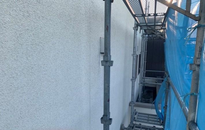高圧洗浄後の外壁