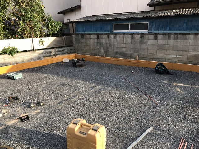 土間コンクリート型枠木工全景