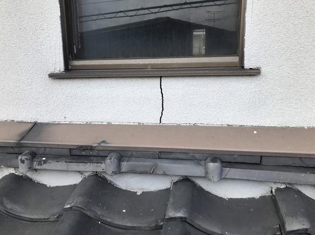 外壁のひび割れ(クラック)