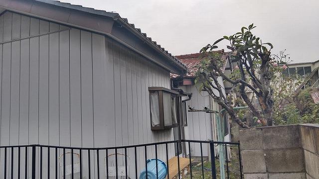 家の裏側の雨どい