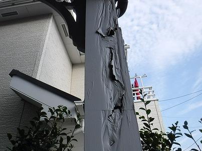 柱の塗装の劣化
