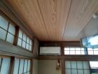 エアコン側の和室天井張り終わったところ