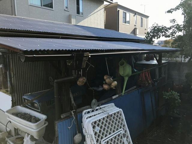 農機具小屋完成北側から