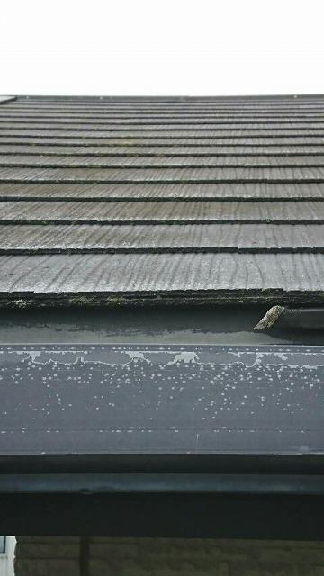 雨樋の塗膜の劣化