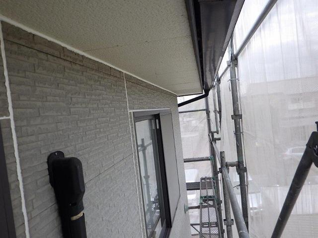 外壁塗装前に目地にシーリング材を打ち替えたところ