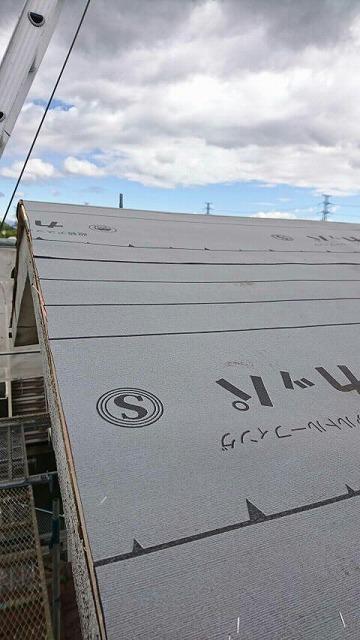 屋根のケラバのルーフィングシート