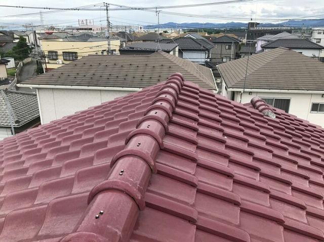 大棟西から見て屋根の上から見た