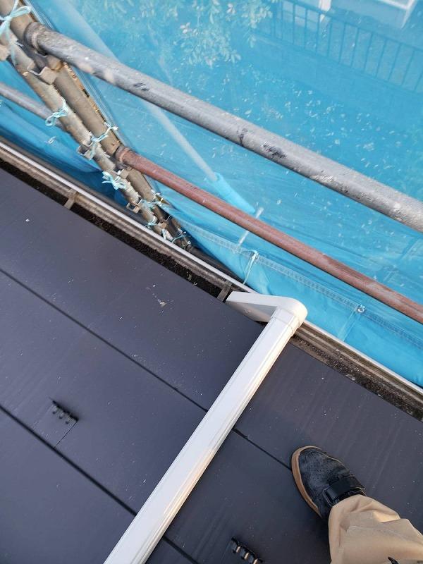 這樋から軒樋への繋ぎ込み