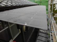 2階のテラスの屋根の波板交換後