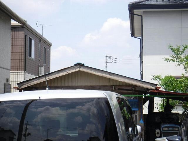 農作業小屋の破風板