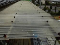 交換する前の2階のテラス屋根の波板