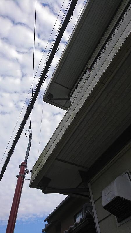 軒天井1階と2階の張り替え完成