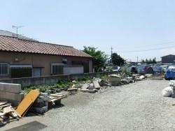 フェンス設置予定の隣の家との敷地の境界
