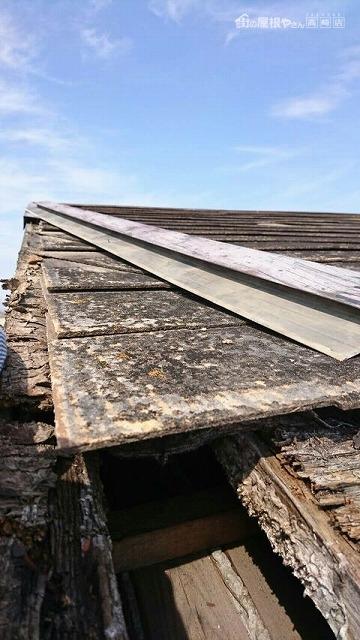 屋根の穴南からみた様子