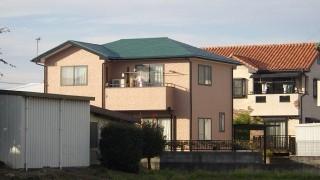 屋根及び外壁塗装後の家の全景