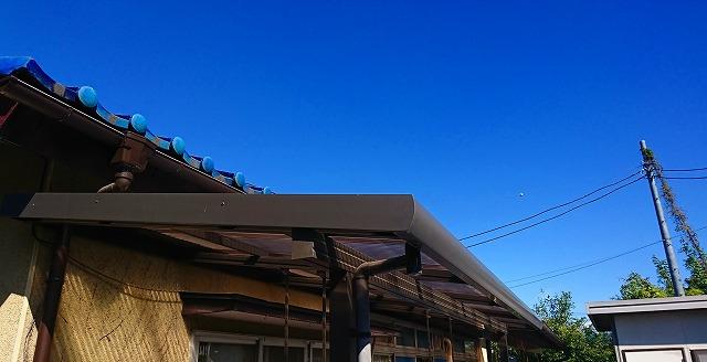 完成したテラスの屋根