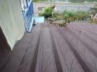 セメント瓦と雨押え板金