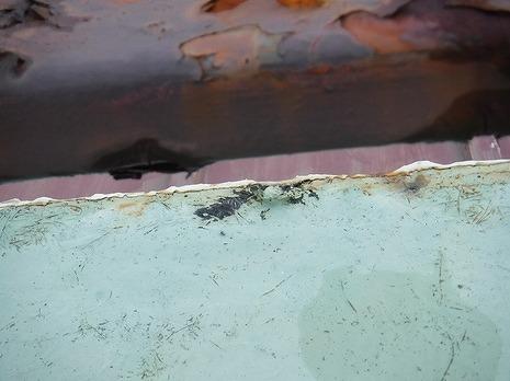 塗料防水端の凸凹