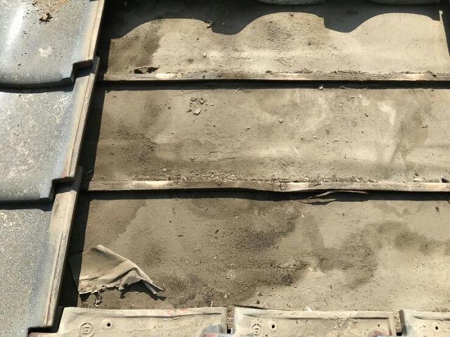 野地板の泥