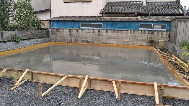 型枠内で仕上げた土間コンクリート